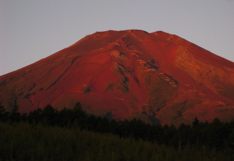 赤富士 滝沢林道