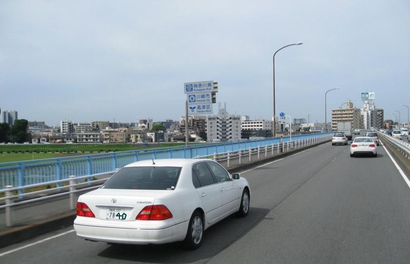 246多摩川 東京ー神奈川県境