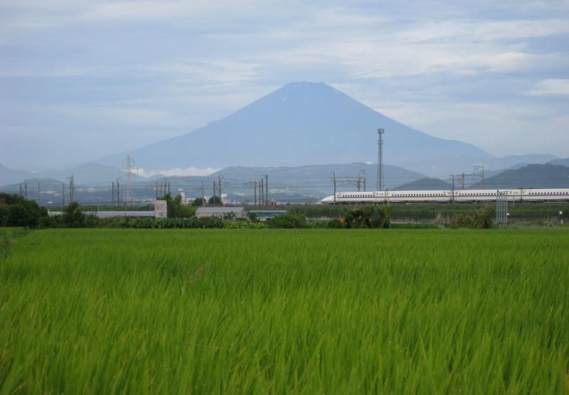 新幹線と富士山