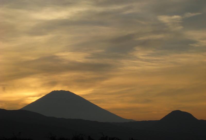 夕焼け富士山 小田原