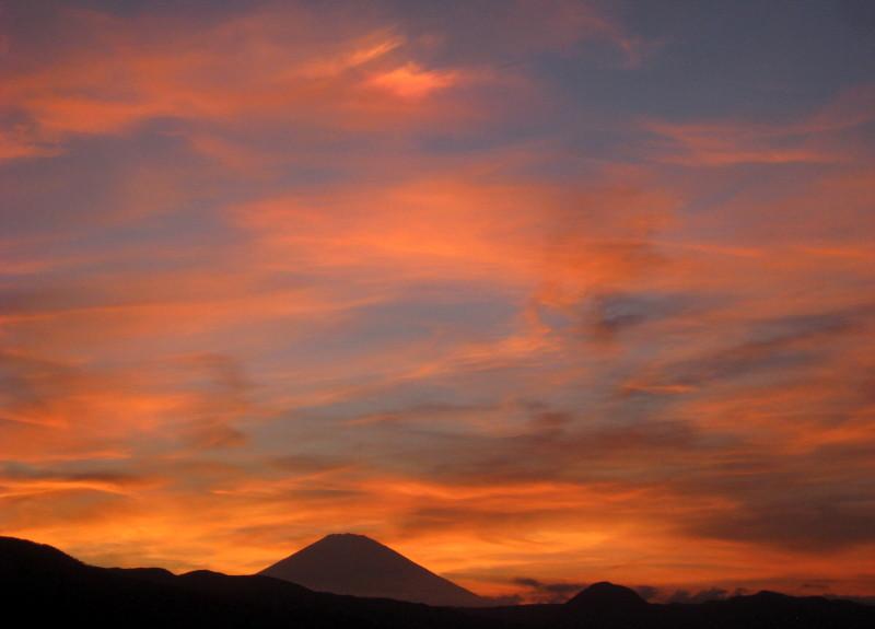 夕焼け富士山 小田原5