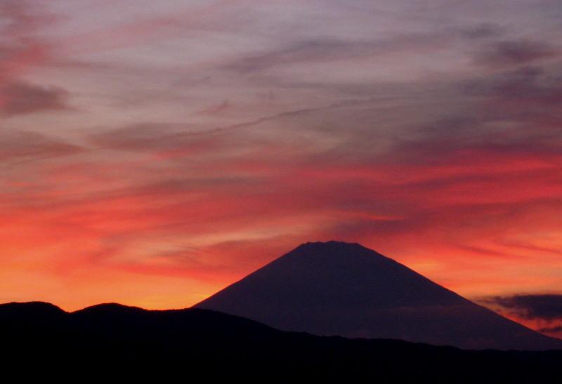 夕焼け富士山 小田原8