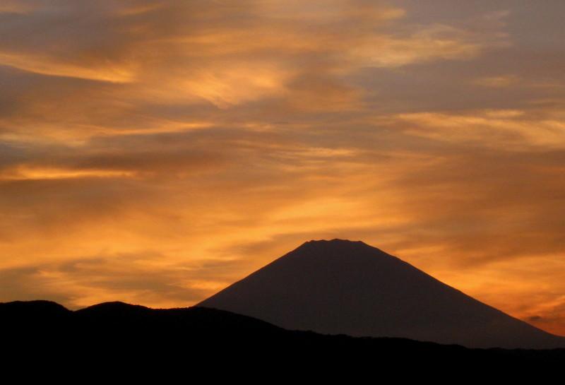 夕焼け富士山 小田原2