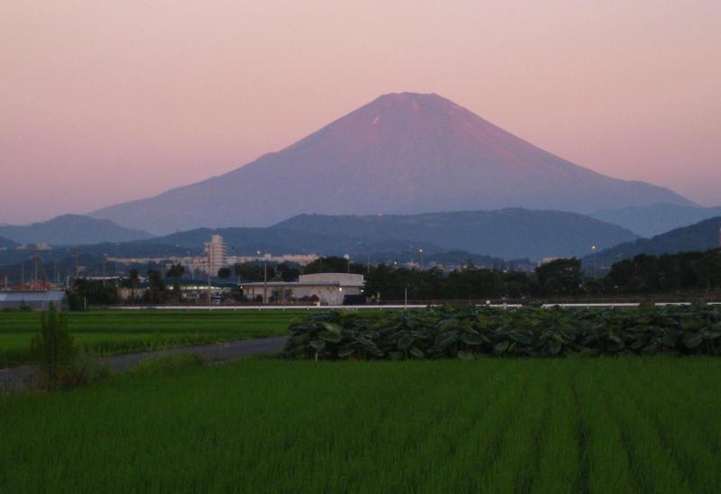 神奈川県からの赤富士画像[2008年8月7日]