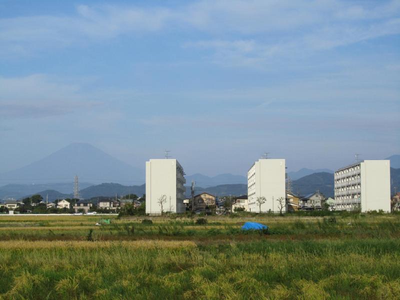 2010年10月3日の朝の富士山