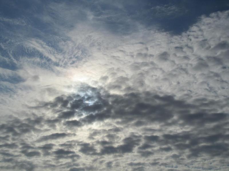 2010年10月3日の朝の空と雲