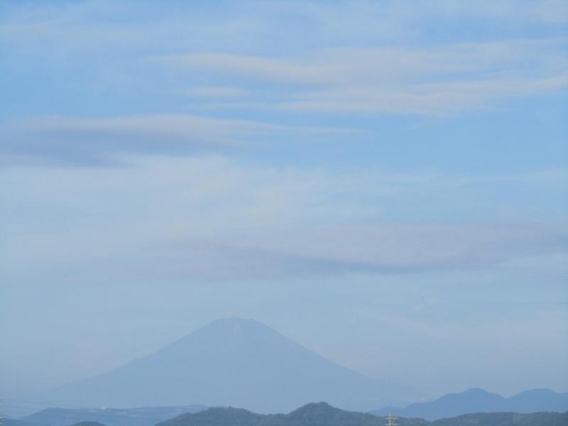 富士山2010年10月3日の朝の空