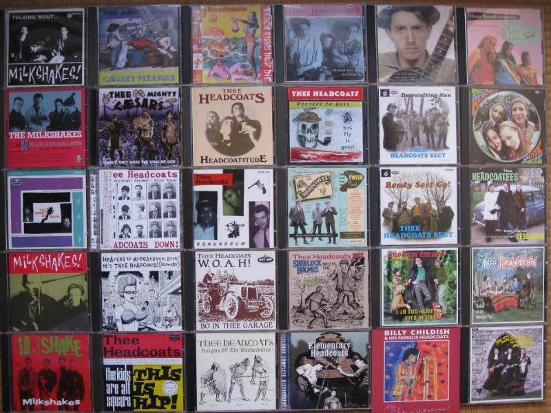 Headcoats、Milkshakes、Thee Mighty Ceasars、Headcoatees、Headcoat Sect CDジャケ画像