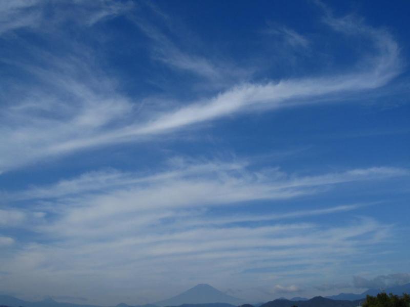 富士山と空 2010年10月23日8時頃・神奈川県