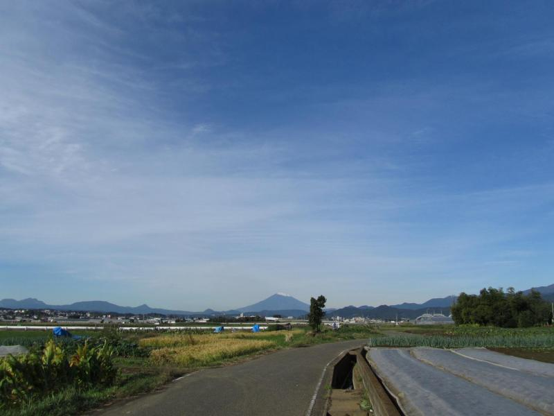 富士山と秋の空