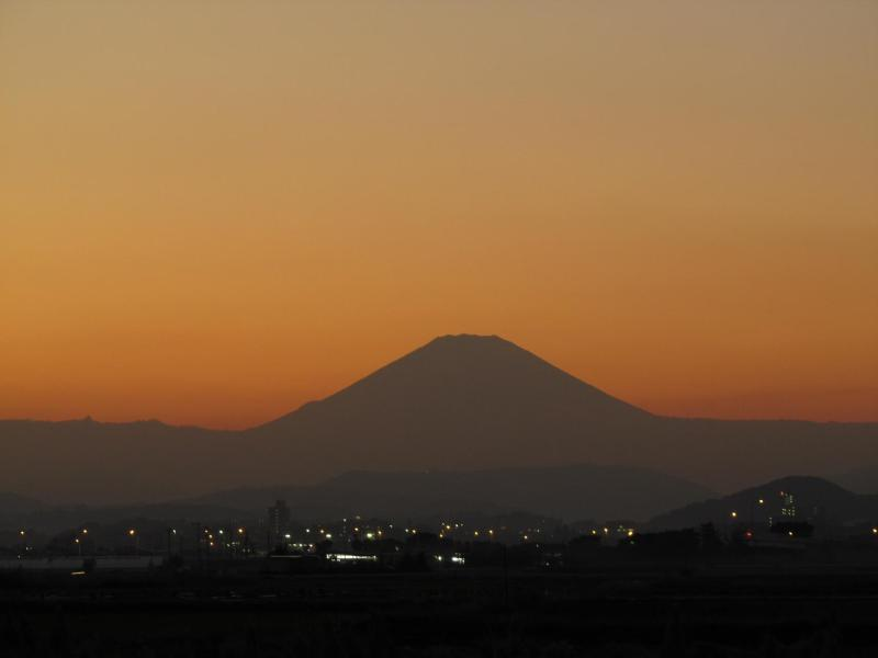 夕焼け富士山 神奈川