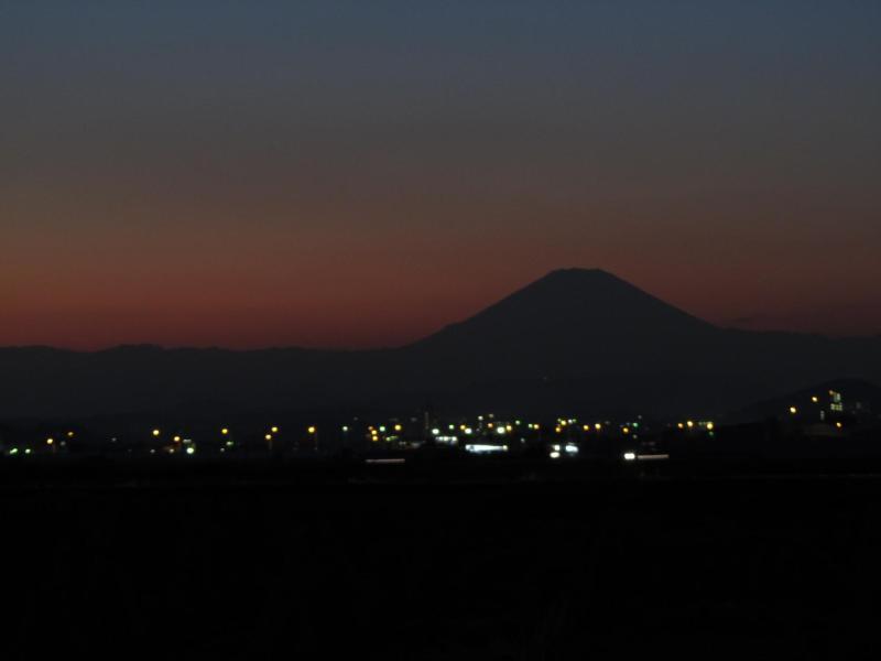 夕暮れ富士山 神奈川