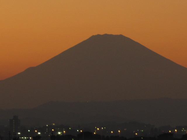 夕焼け富士山 神奈川2010年秋