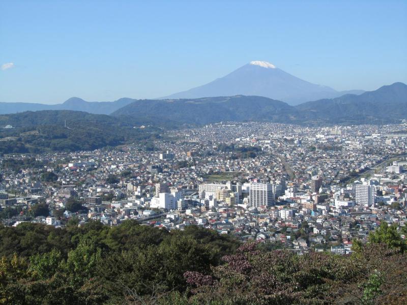 秦野市弘法山公園 権現山展望台からの富士山