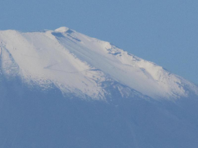 富士山頂アップ 2010年11月6日
