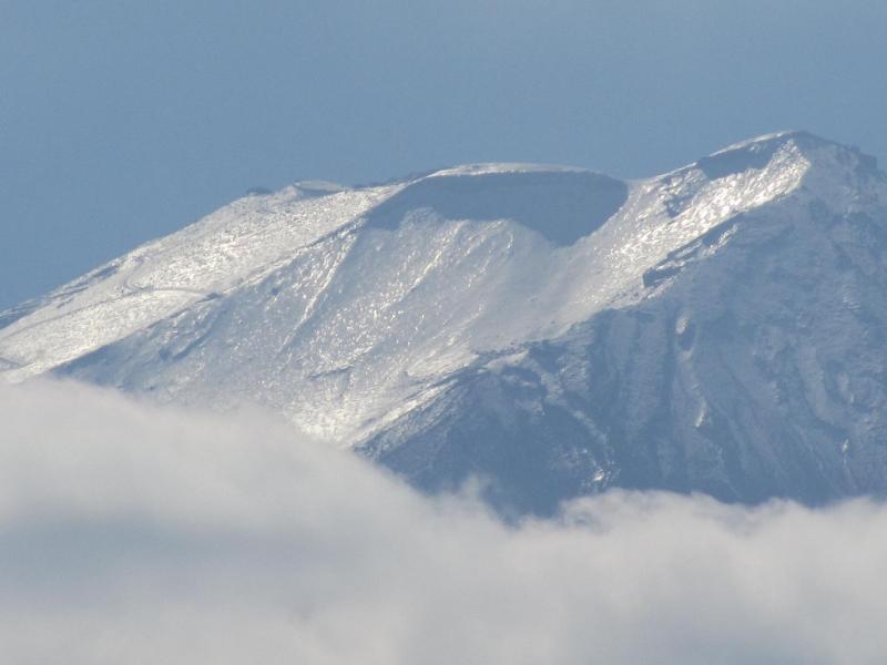 河口湖からのギラギラ富士山