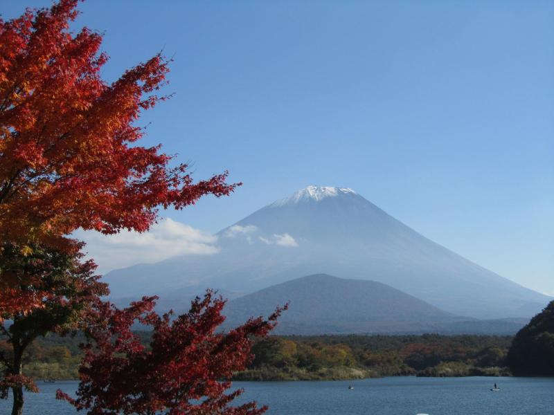 富士山 精進湖 紅葉もみじ 2010年秋
