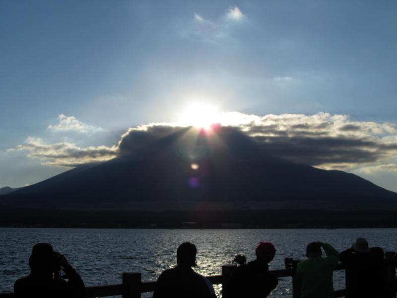 山中湖ダイヤモンド富士 2010年11月6日 ③
