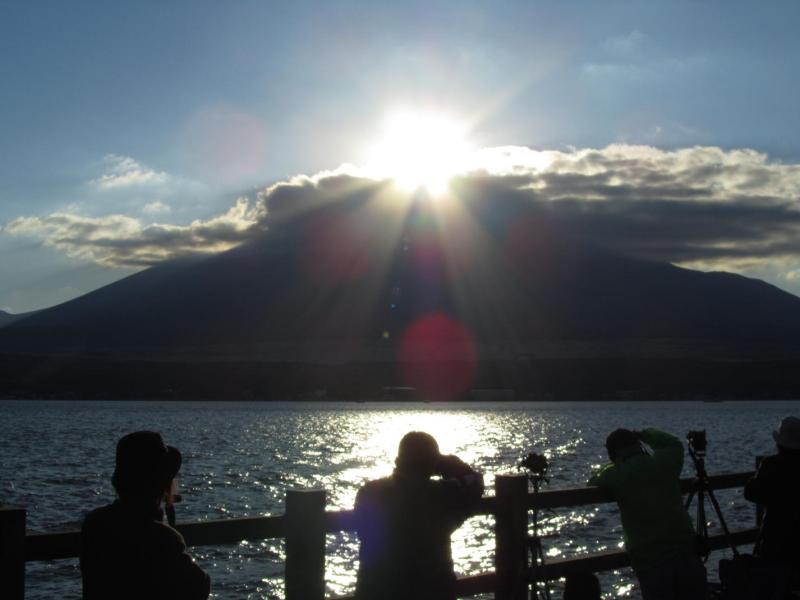 山中湖ダイヤモンド富士 2010年11月6日 ①