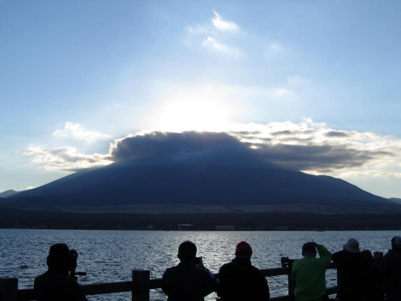 山中湖ダイヤモンド富士 影富士2010年11月6日 ⑥