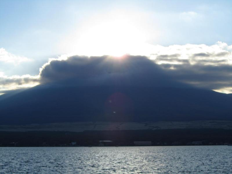 山中湖ダイヤモンド富士 2010年11月6日 ④