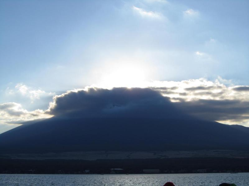 山中湖ダイヤモンド富士 影富士2010年11月6日 ⑦