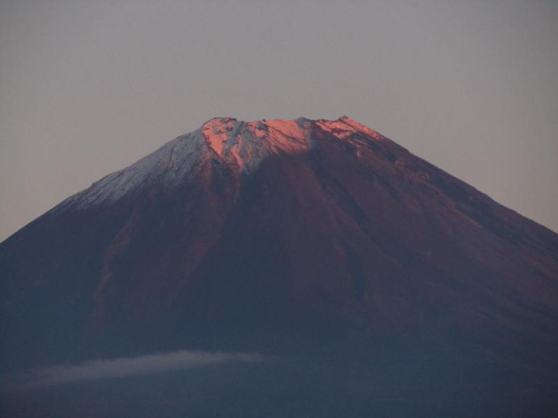 精進湖からの紅富士