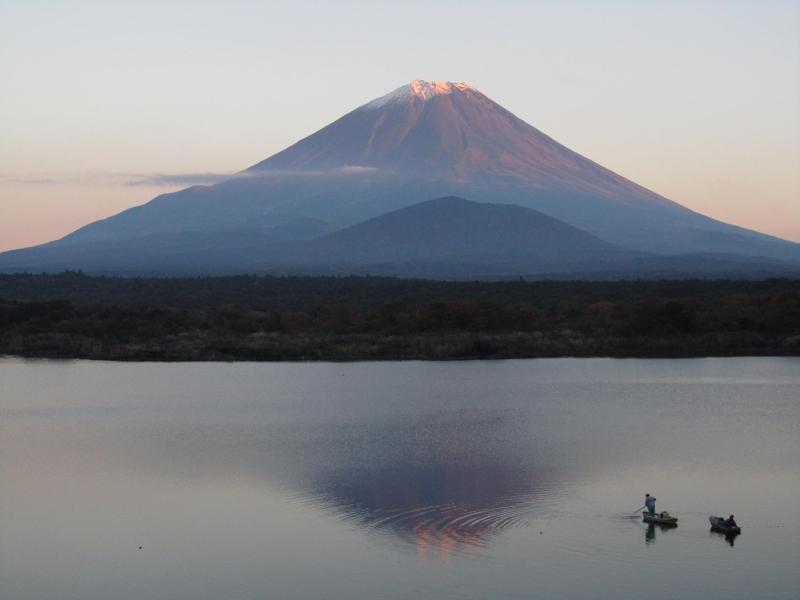 逆さ富士 精進湖