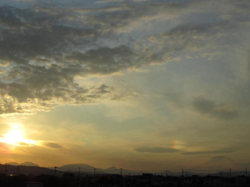 富士山 彩雲 夕日