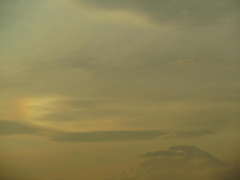 富士山 彩雲