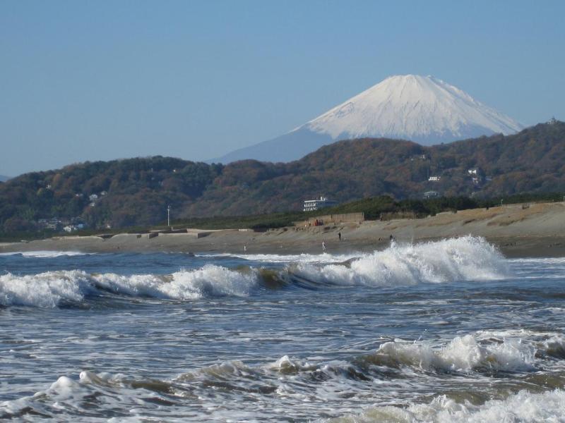 富士山 平塚海岸 波
