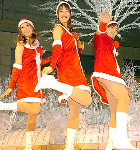日テレ3人娘(葉山エレーヌ 鈴江美奈 夏目三久) サンタ画像
