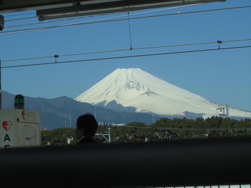 富士山画像 新幹線三島駅