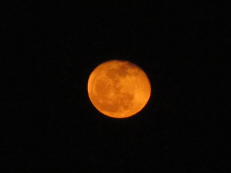 赤い月の画像