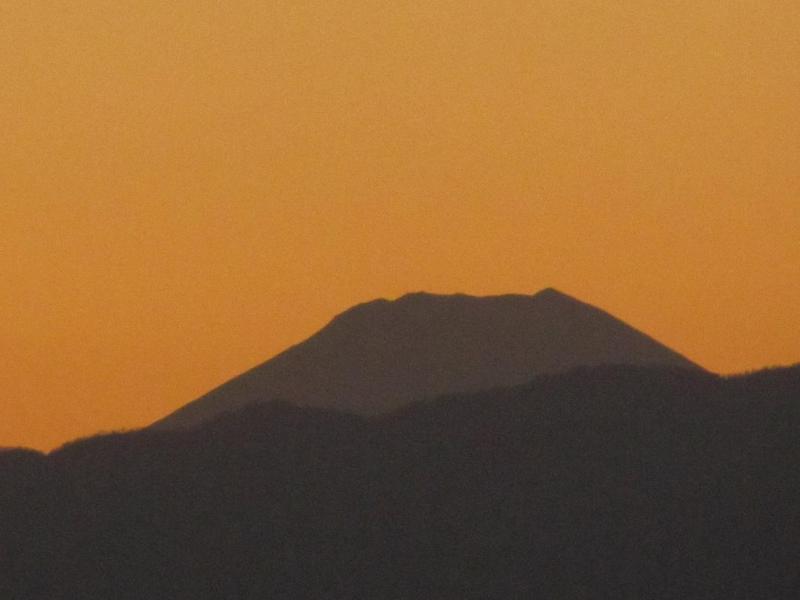 夕焼け富士画像