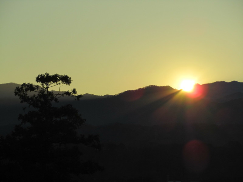 2010年大晦日の夕日画像