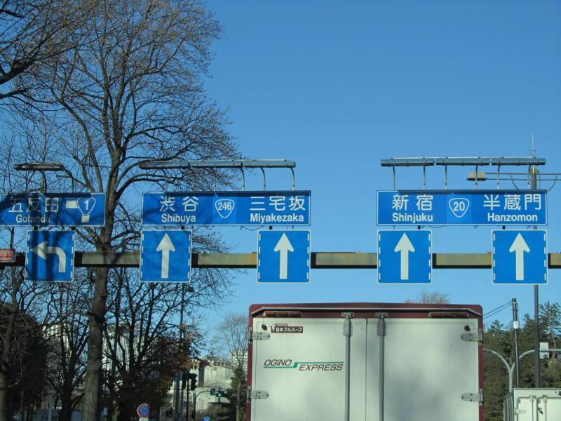 国道1号(東海道)、国道246号(大山街道)、国道20号(甲州街道)画像