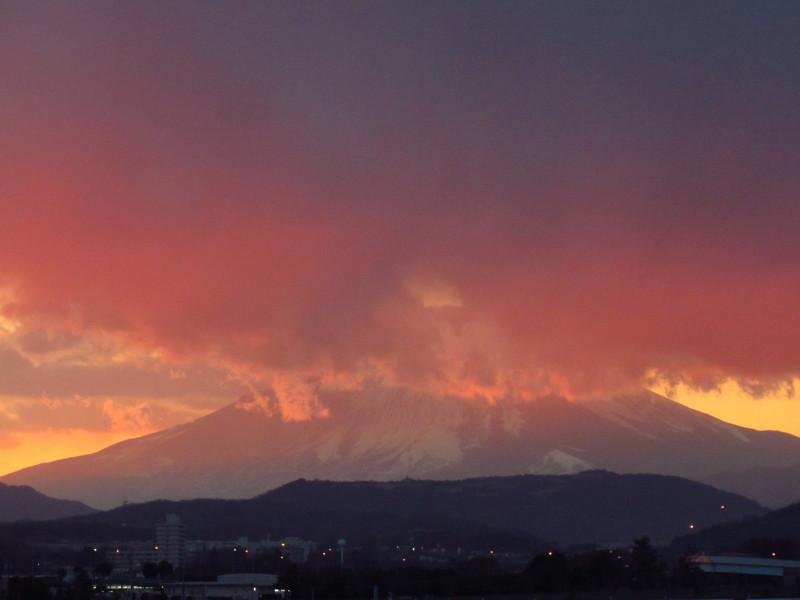 夕焼け富士 写真