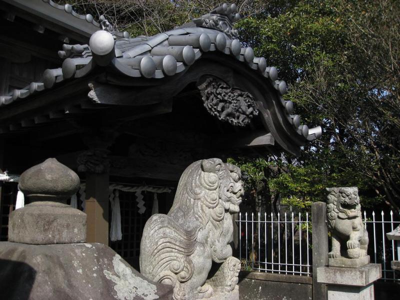 由比 飯田八幡宮 狛犬
