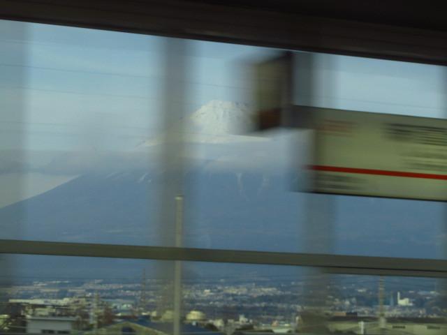 新富士駅 富士山の日の写真