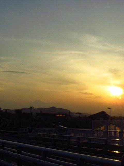 ⇒夕日富士