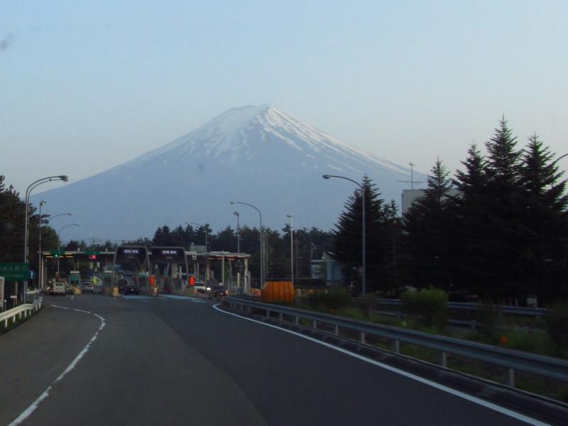 富士山 中央道 河口湖IC