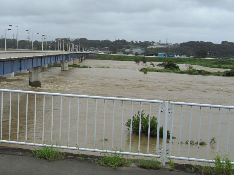 相模川増水
